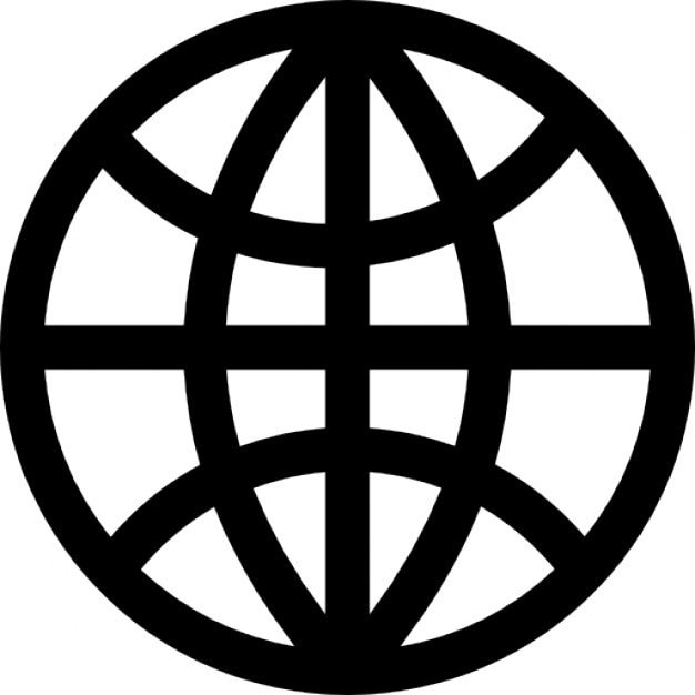 Globe Grid Dark Outline Free Icon