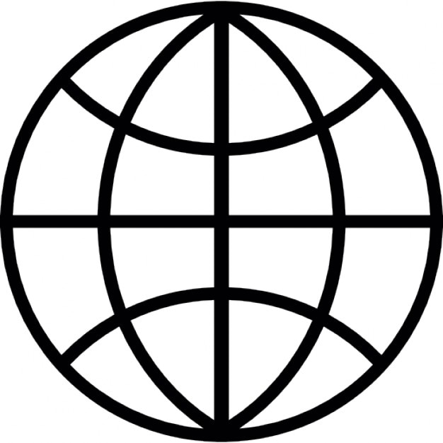 Globe grid dark outline Icons | Free Download