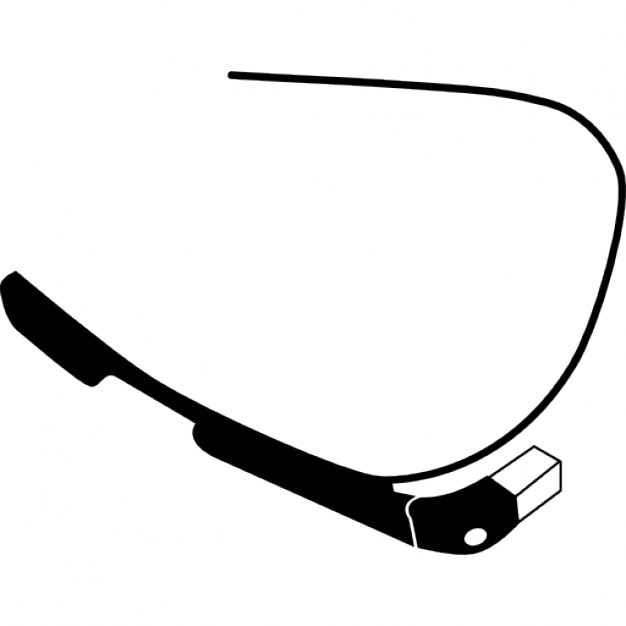 Google glasses bottom view Free Icon