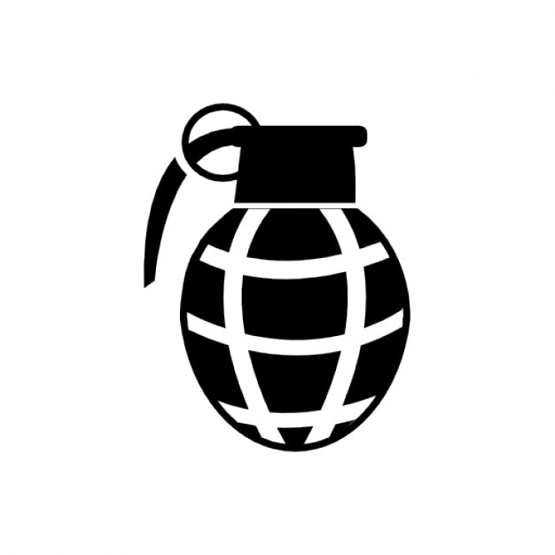 grenade black icon vector icons free download rh freepik com  hand grenade vector free download