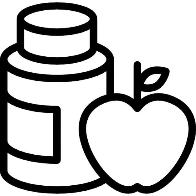 Gymnast apple diet with natural supplements Icons | Free