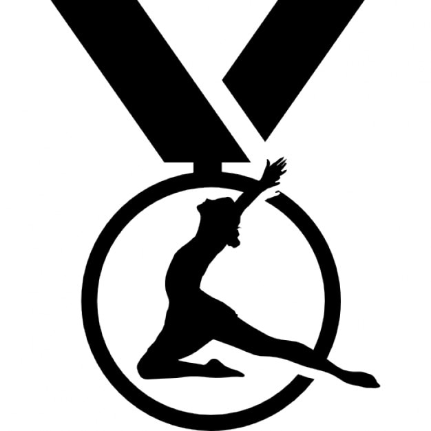 Gymnastics medal variant Icons   Free Download