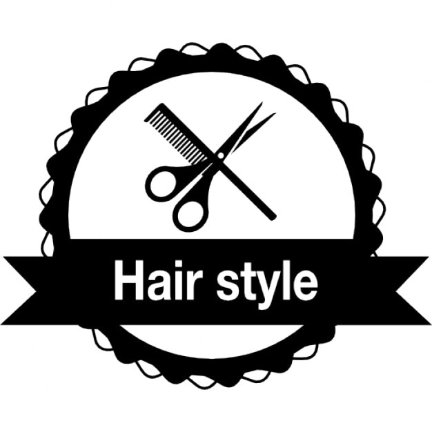 Hair Style Icons : Hair style badge for commercial salon Icons Free Download