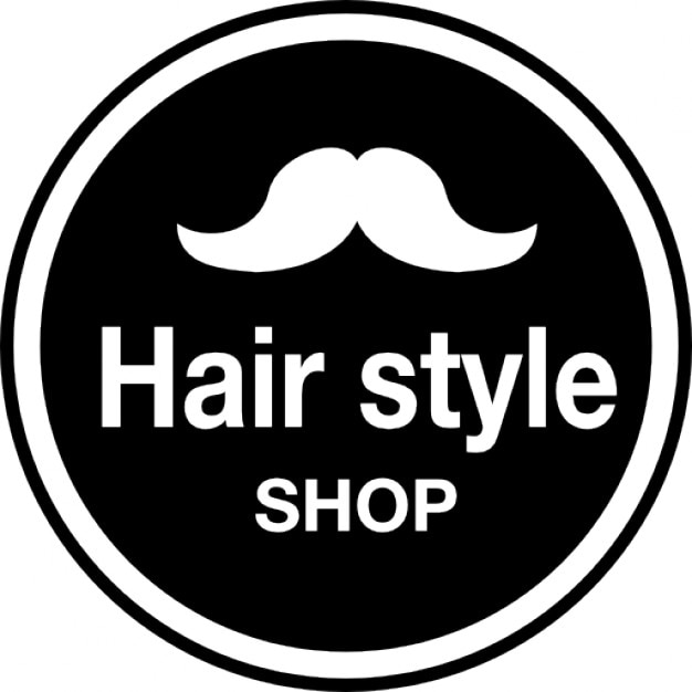 hair style shop hair style shop badge with a mustache shape icons free 3115