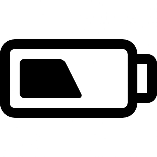 Half battery charging status Icons | Free Download
