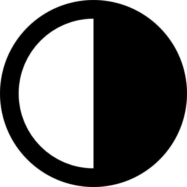 Symbols Half Circle Half-filled Circle Icons