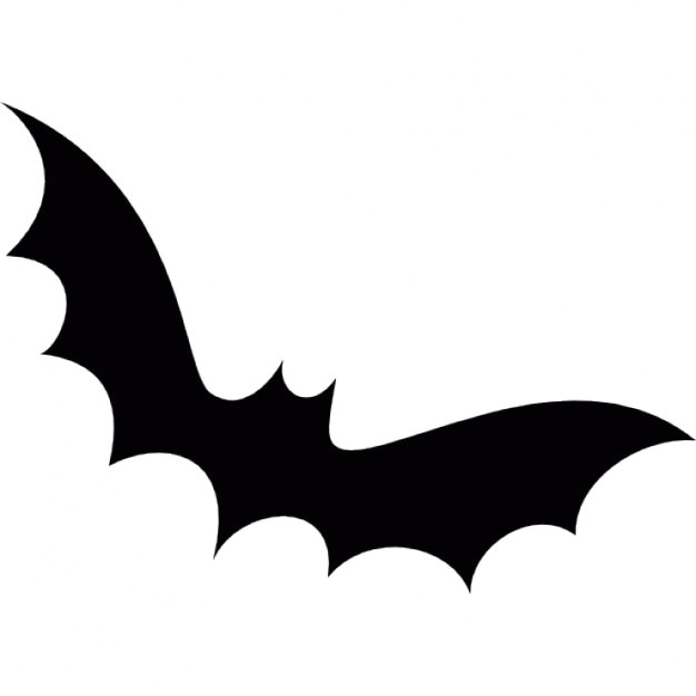 halloween bat shape free icon