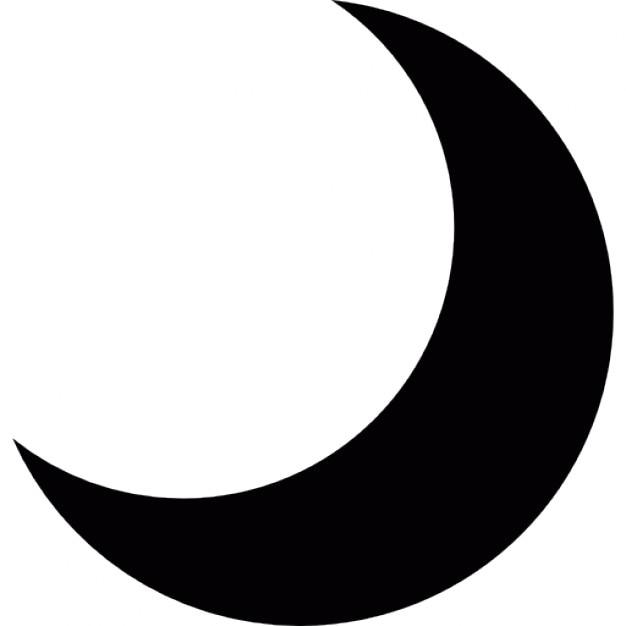 Halloween Black Moon Phase Shape Free Icon