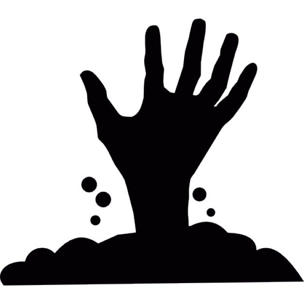 halloween creepy hand appearing from under the soil icons Crawling Zombie Drawing Zombie Face Vector