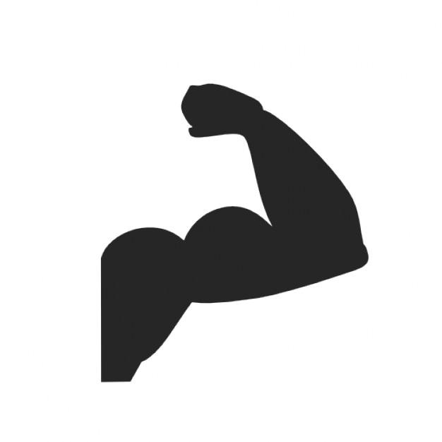 Hand biceps Free Icon