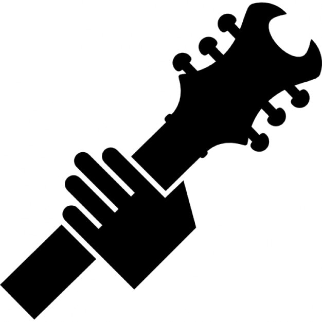 Hand holding a guitar Icons | Free Download