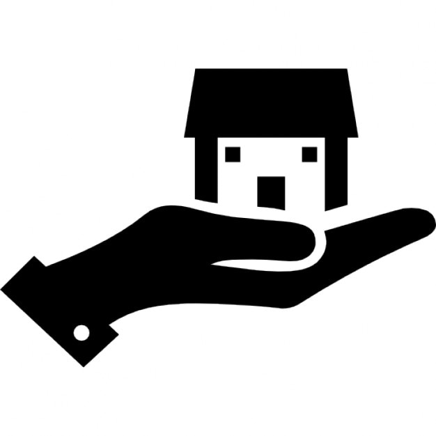 Hand with a home Icons | Free Download