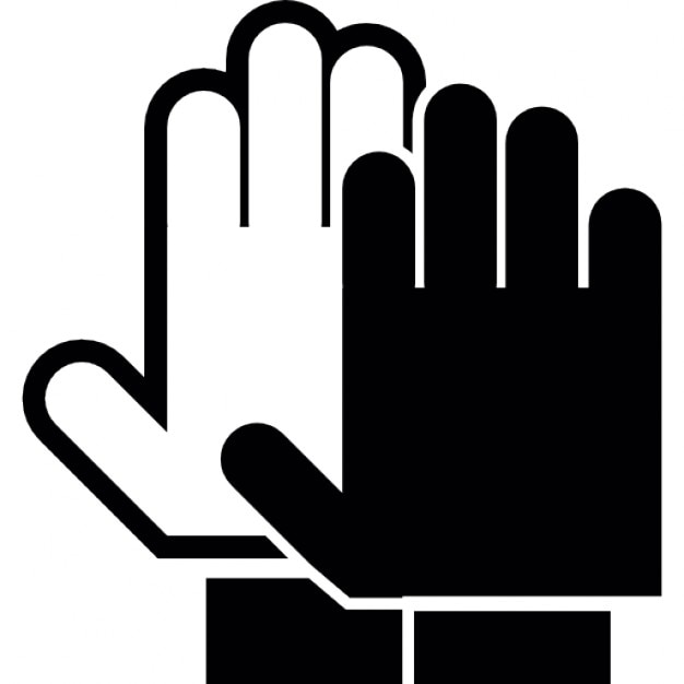 Hands Palms In Black And White Stop Warning Symbol Icons Free