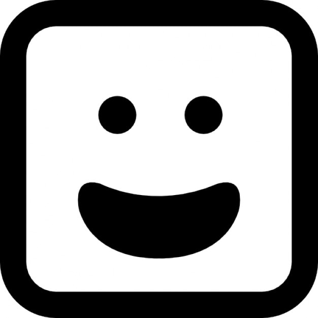 Happy smiling emoticon face with open mouth Icons | Free ...