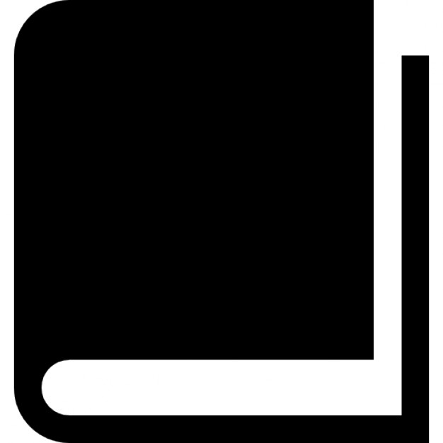 Hardbound book variant Icons | Free Download Closed Book Silhouette