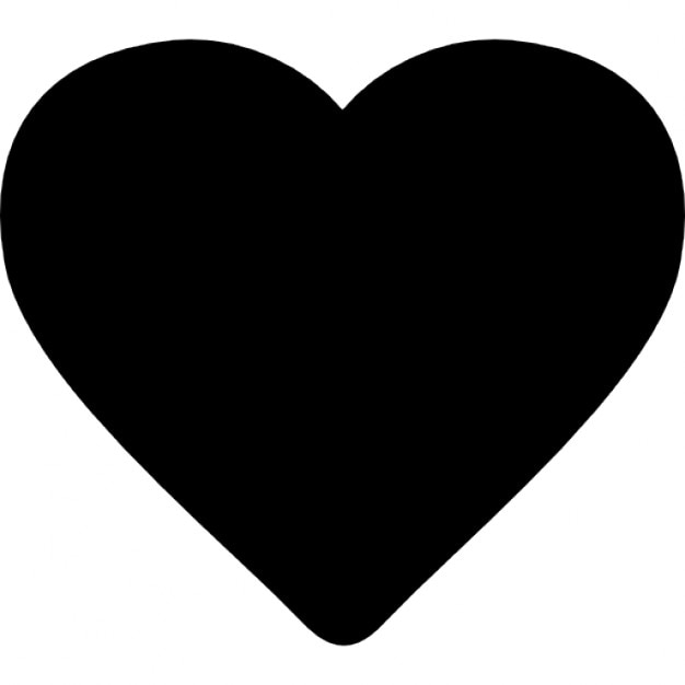 Heart Black Shape Ios 7 Interface Symbol Icons Free Download