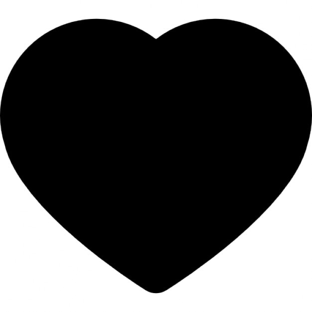 Heart Black Shape Symbol Icons Free Download