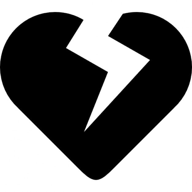 Heart Broken Symbol Icons Free Download