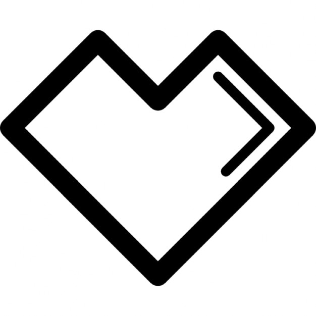 Heart Of Straight Shape Outline Variant Icons Free Download