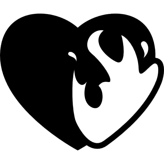 Heart On Fire Icons Free Download