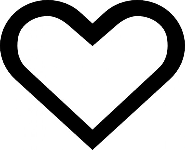 Heart outline Free Icon