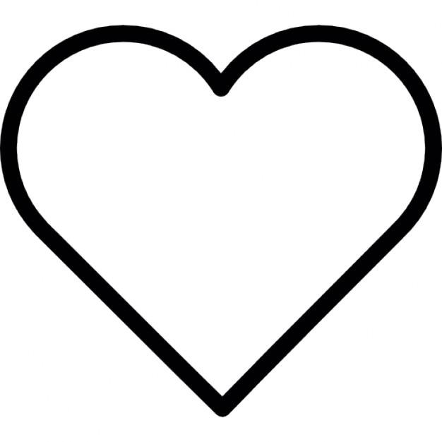 heart shape outline icons free download rh freepik com love heart vector outline free vector heart outline download