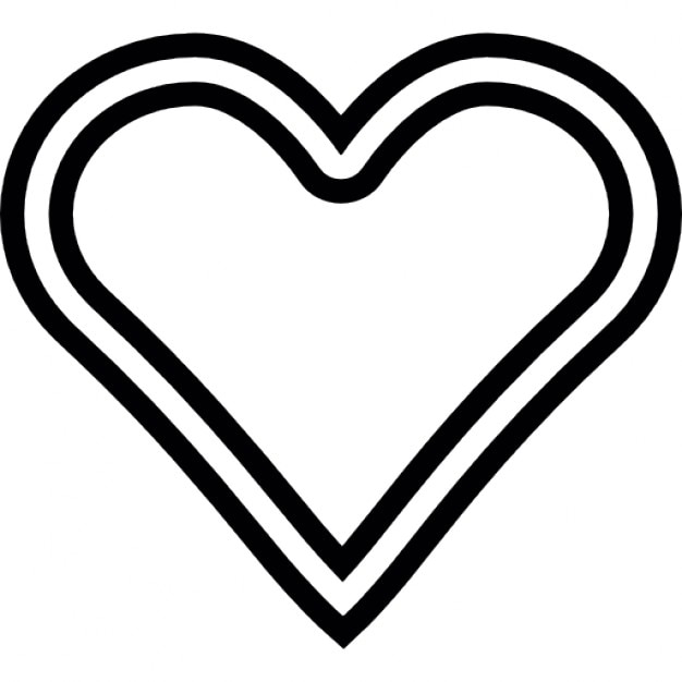 Line Drawing Heart Shape : Heart shape outline icons free download