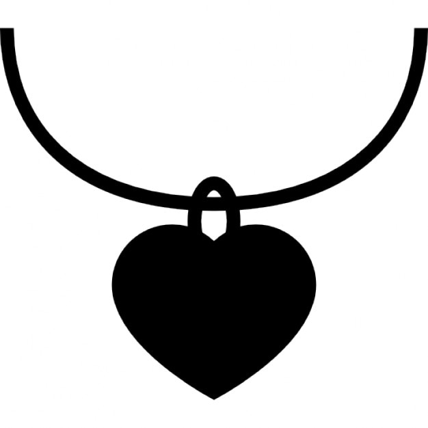 Heart Shaped Jewelry Pendant Free Icon