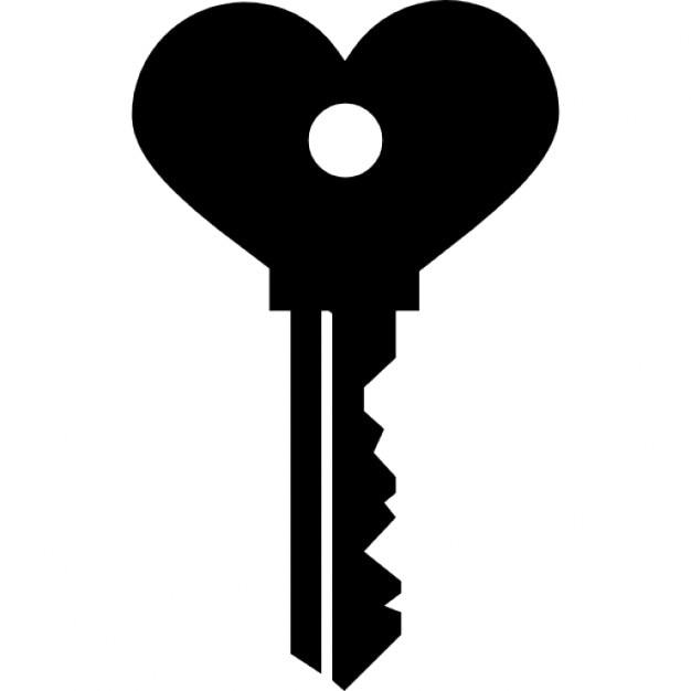 heart shaped key icons free download