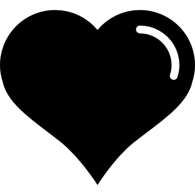 Heart Shaped With White Lining Detail Icons Free Download