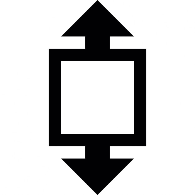 Height Size Symbol Of A Square With Arrows Icons Free Download