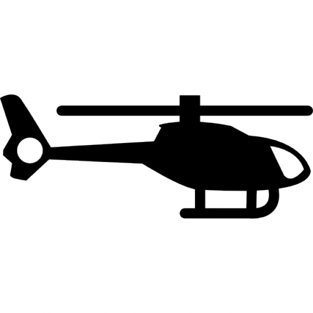 Helicopter silhouette Icons | Free Download