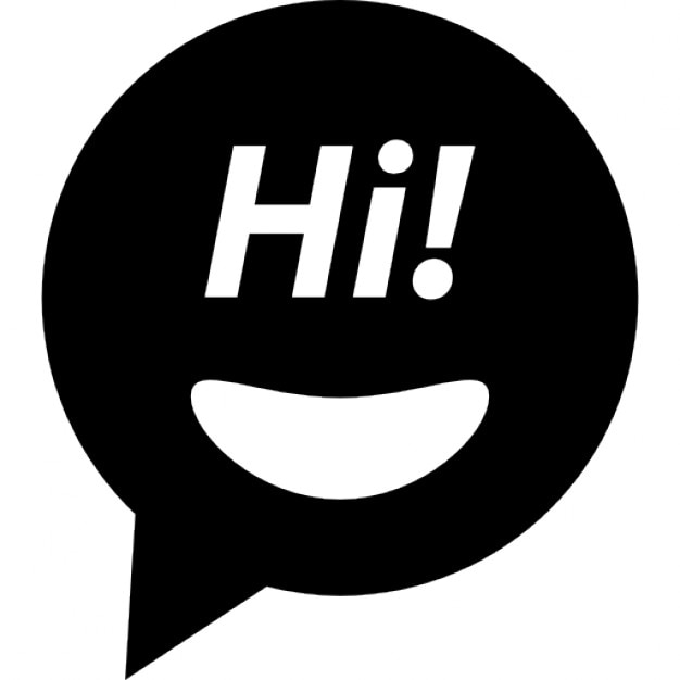 hi face speech bubble icons free download