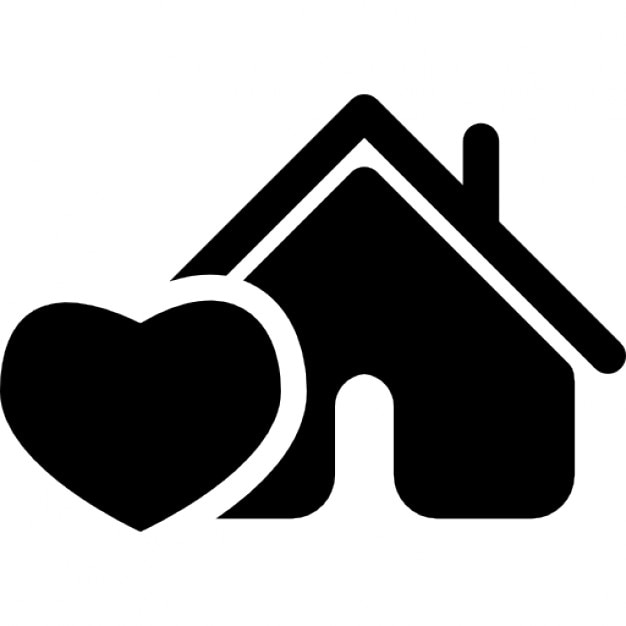Home With Like Heart Symbol Icons Free Download