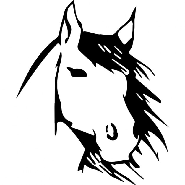 Horse face front view sketch Icons | Free Download