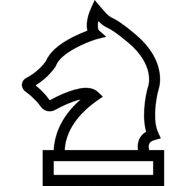 Horse Head Chess Piece Outline Icons Free Download