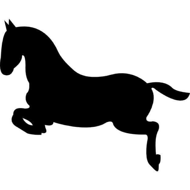 Jumping horse silhouette
