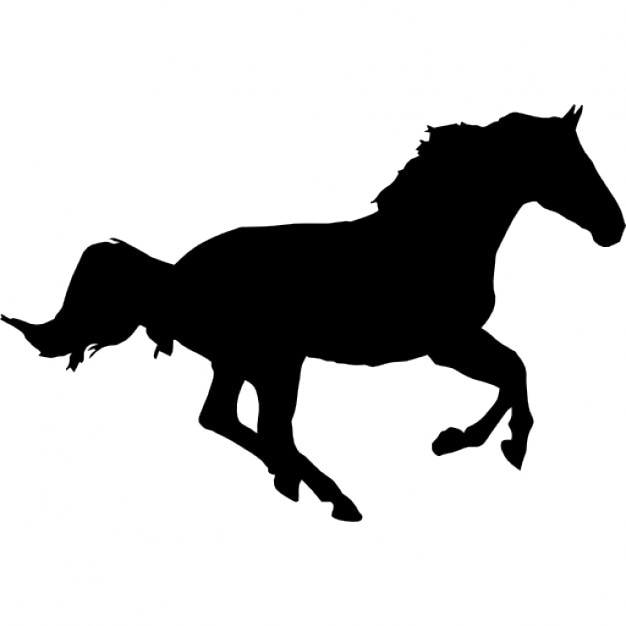 Horse running silhouette Icons | Free Download