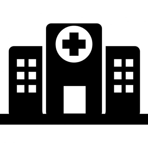 Hospital buildings Icons Free Download
