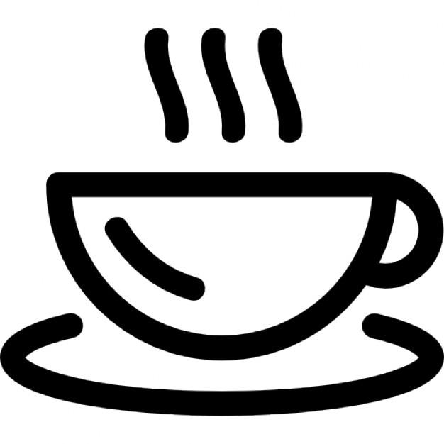 Hot Coffee Mug Outline Icons Free Download