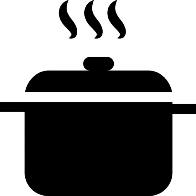 Hot soup in a pot Free Icon