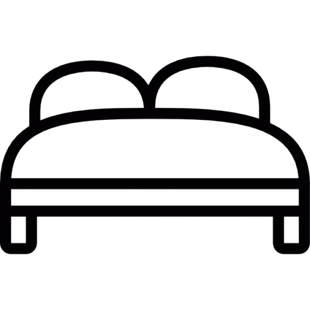 Hotel bed for two Free Icon