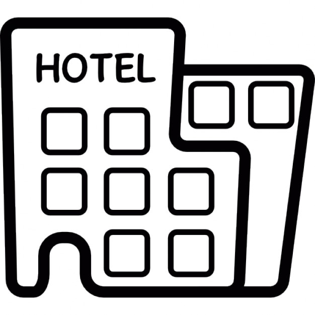 Hotel Building For Vacations Icons