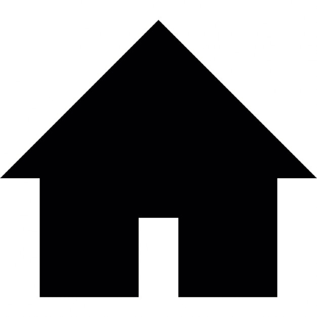 House black building shape Icons | Free Download