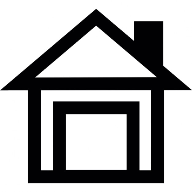 House Outline With Chimney Icons Free Download