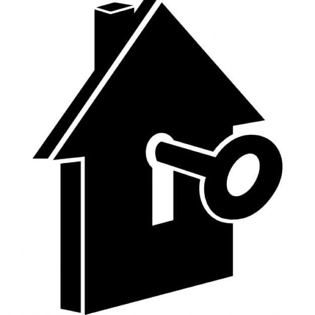 House with keyhole Icons | Free Download