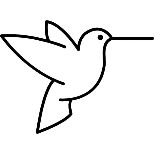 Humming bird outline from side view Icons Free Download