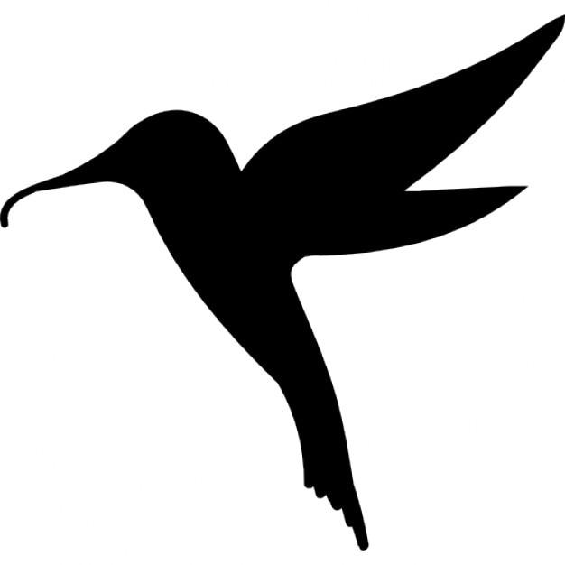Hummingbird Bird Shape Icons Free Download