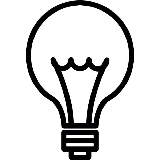 Idea. Light bulb thin line, IOS 7 interface symbol Icons | Free Download