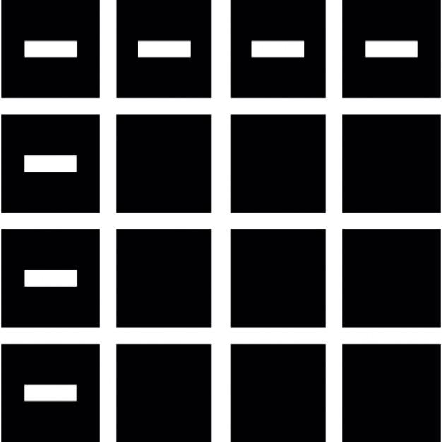 Images tiles, IOS 7 interface symbol Free Icon